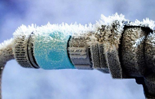 как растопить лед в трубе