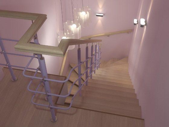 лестница из профильной трубы