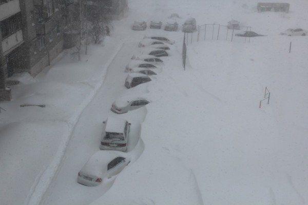 На фото - зимний Комсомольск-на-Амуре.