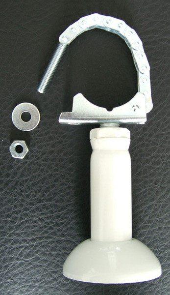 Низкая компактная опора без крюка, но с верхней пластиной и фиксатором