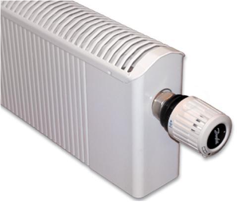 Низкопрофильный конвектор с термостатической головкой.