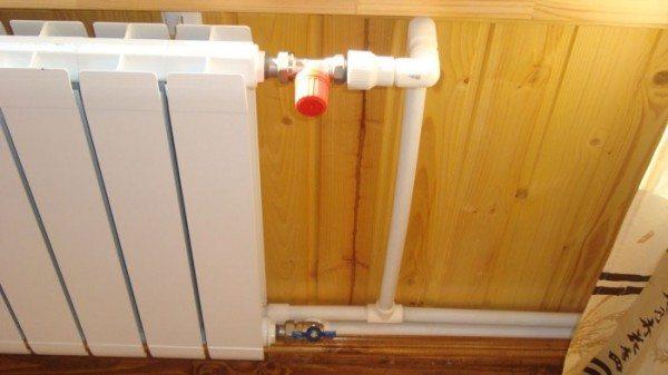 Обвязка с термостатом и вентилем.
