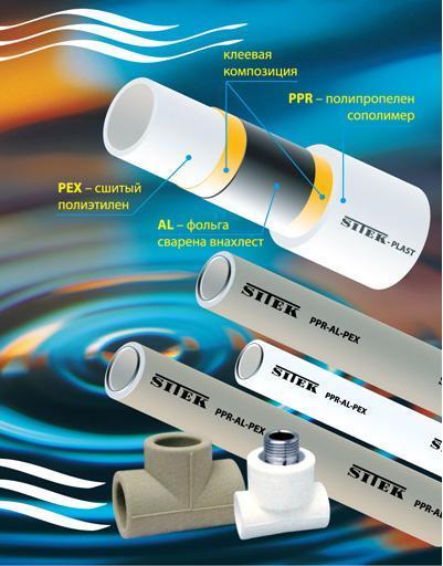 пластиковые трубы для горячей и холодной воды
