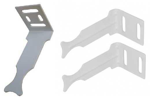 Пластинчатое крепление для алюминиевых радиаторов не предназначено для серьезных нагрузок