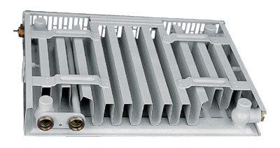 Плоский однорядный радиатор отопления(11 тип, одна панель, один ряд ребер)