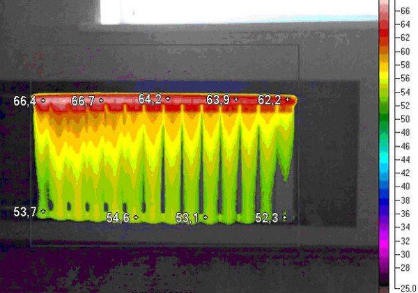 После промывки разброс температур между первой и последней секциями не должен превышать пяти градусов.
