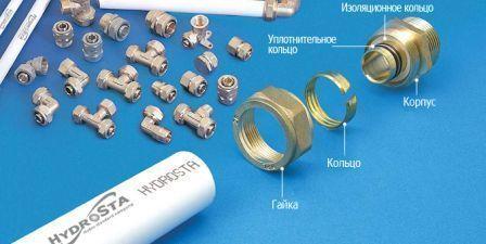 Последовательность установки элементов металлических фитингов