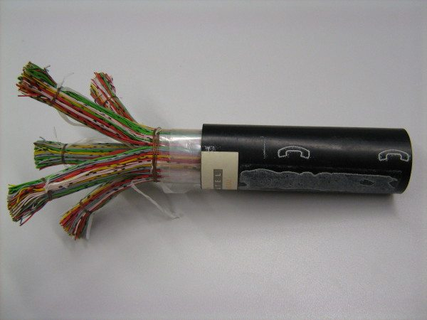 Пример кабеля внутри ПНД трубы