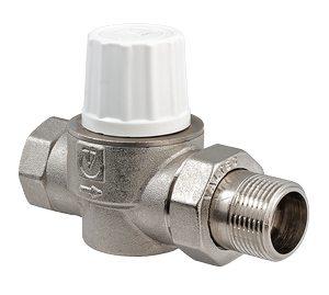 Прямой термостатический вентиль для радиатора 1:2 дюйма диаметром.