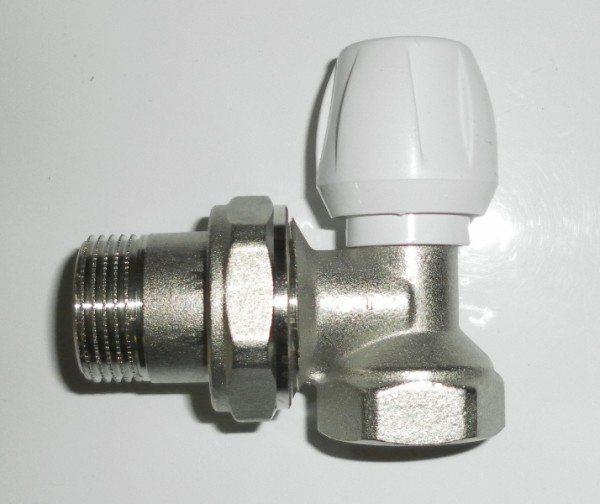 Радиаторный угловой кран 25 - 3:4 позволит соединить многосекционный отопительный прибор непосредственно с тройником розлива.