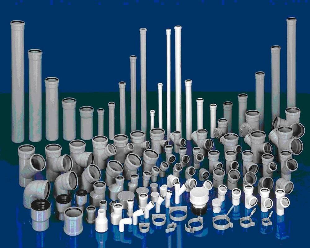размеры трубы пластиковые канализационные