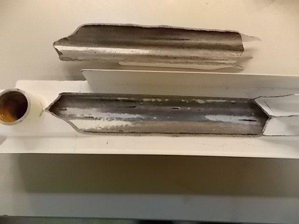 Разрыв секции алюминиевой модели при скачке давления в системе