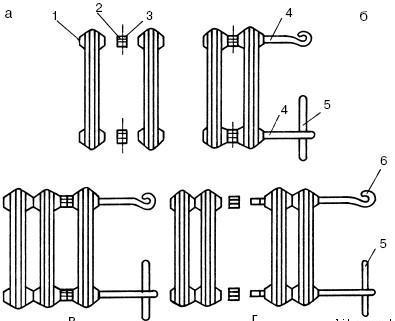 Схема отсоединения секций батареи