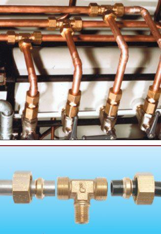 Система соединения медного трубопровода