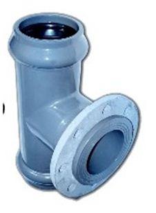 тройник из ПХВ с металлическим фланцем. Он предназначен для водопровода ХВС низкого давления