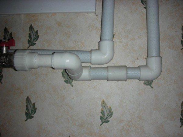Водопроводная система, собранная при помощи клеевого соединения