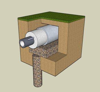 Защитный короб для пластиковой трубы