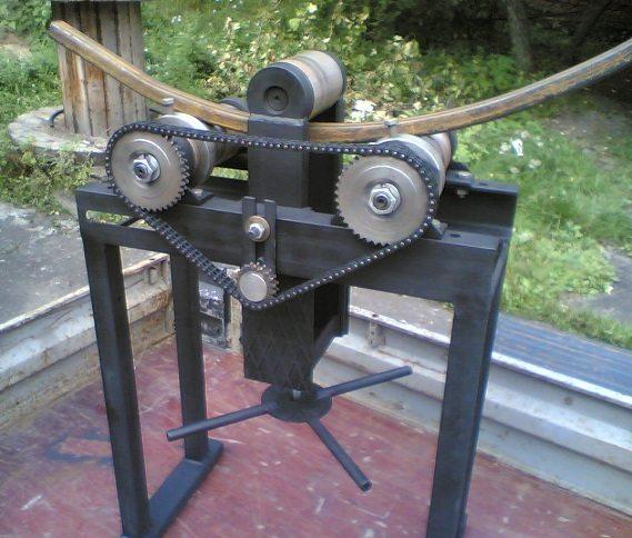 здесь электропривод используется только для протяжки трубы